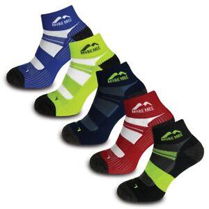 More Mile Endurance 5 Pack Mens Coolmax Cushioned Running Ankle Socks