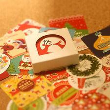 38pcs/lot Christmas Decoration Sticker Xmas Ornament Paper Wall Diary Sticker