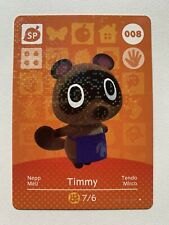 Animal Crossing Genuine Official Amiibo Card Timmy 008 [Mint Unscanned]