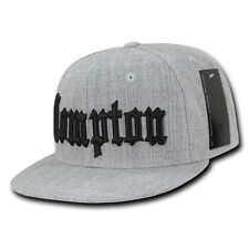 Gry Compton Vintage Embroidered Hip Hop Flat Bill Snapback Snap Back Cap Hat
