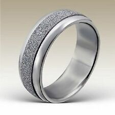 Stainless Steel Engagement Costume Rings without Stone