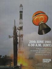 4/1981 PUB SEP PROPULSION SNECMA MOTEUR FUSEE ARIANE 3 SATELLITE METEOSAT AD