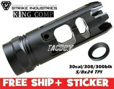 Strike Industries 30cal/308/300blk King Comp Compensator Muzzle Brake for 5/8x24