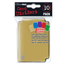 ULTRA PRO TRADING CARD STORAGE BOX DIVIDERS PACK OF 10 FOR DECK BOXES & SLEEVES