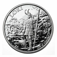 1 OZ LOKI Valkyrie Norse God .999 silver proof # coa #5 in viking series art bar
