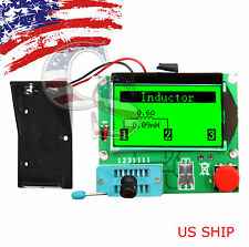 12864 Mega328 ESR Transistor Resistor Diode Capacitor Mosfet Tester & Test hook