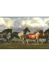 Running Free Horses Wallpaper Border NV9448B