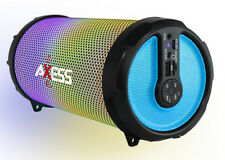 """Axess Disco LED HiFi 2.1 Bluetooth with 3"""" Subwoofer Speaker (Blue) SPBL1044BL"""
