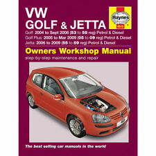 VW Golf Jetta Haynes Manual 2004-09 1.4 1.6 2.0 Petrol 1.9 2.0 Dsl Workshop