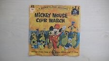 Disneyland Records MICKEY MOUSE CLUB MARCH 45 RPM 1962