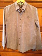 Shaun White Women's Long Sleeve Top, XL 16, Blue Chambrais, button casual blouse