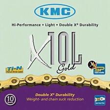 10 veces cadena KMC x10l oro 114 eslabones