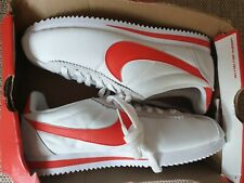 READ* Nike Men's Classic Cortez Nylon White Red Trainers UK 6 EUR 40 US 7 807472