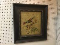 Uttermost-Bird On A Olive Branch-Hardboard-Wood Frame-High End Art-Oil Look-