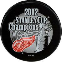 Detroit Red Wings Unsigned 2002 Stanley Cup Champs Logo Hockey Puck - Fanatics