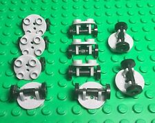 Lego New Bulk X10 Trolley / SkateBoard Wheel,Round Modified Plate With Holder