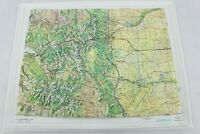 Vintage Kistler Graphics Raised Embossed Topo Graphical Map of Colorado 1981