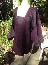 Vintage Heavy Kimono Jacket - Deep Wine Color