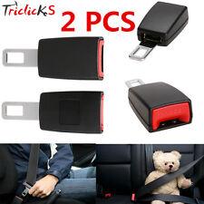 2x Car Seat Belt Extender Safety Eliminator Alarm Stopper Buckle Insert Clips TR