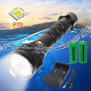 Underwater 100m Diving Flashlight 10000LM XHP70 30W LED Light Ultra Bright Torch