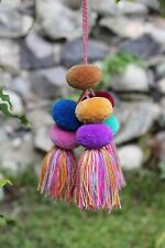 Pompoms Tassel Borlas Fun Decorative Tieback ? Handmade Chiapas Mexican Folk Art