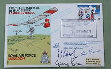 RAF ABINGDON COVER SIGNED BY WW2 US PILOT ALEX VRACUI & GERMAN DR JOBST SCHAEFER
