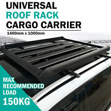 1.4M Aluminium Alloy Car 4WD 4x4 Roof Rack Basket Cargo Luggage Carrier Box Bar