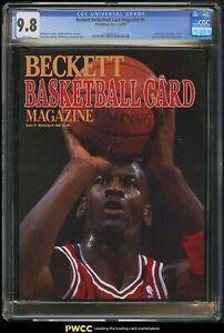 1990 Statabase Beckett Basketball Card Magazine W/ Michael Jordan #1 CGC 9.8