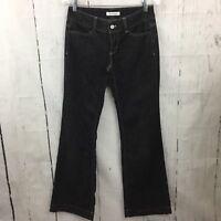 White House Black Market Trouser Leg Jeans Size 2 Gray / Black Wide Leg