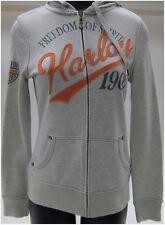 Harley Davidson Ladies Hoodie M-Medium Long Sleeve Zipper, Front, Lite-Grey