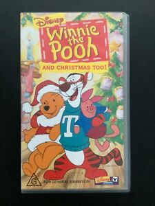 Disney Video Winnie The Pooh And Christmas Too Vhs Video