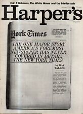 1969 Harper's January - New York Times - Gay Talese; Prague; Zelda Fitzgerald