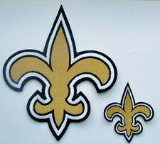 "(1) 8"" X 6 5/8"" NFL N O SAINTS (FOR BACK OF JACKET) LOGO + SHIRT PATCH"