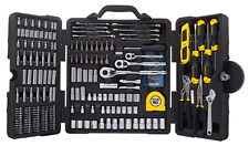 Stanley Mixed Tool Set 210-Piece Mechanics Socket Wrench Spinner Moulded Case