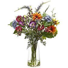 Nearly Natural 4822 Spring Garden Floral Arrangement with Vase