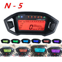 Motorrad 14000RPM Digital LCD Tachometer Kilometerzähler Drehzahlmesser N-5 Gang