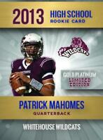 PATRICK MAHOMES 2013 HIGH SCHOOL GOLD ROOKIE CARD ONLY 2,000 MADE CHIEFS!🔥🔥🔥