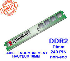 Mémoire 1GO DDR2 PC2-3200 240PIN Kingston KTH-XW4200/1G FAIBLE ENCOMBREMENT slim