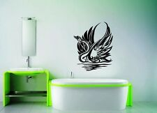 Wall Stickers Vinyl Decal Swan Bird Lake Tribal Nature Swim  For Bathroom ig146