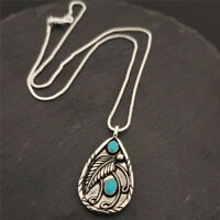 Fashion Boho Pendant Tibet Silver Vintage Necklace Women Jewlery Free Shipping