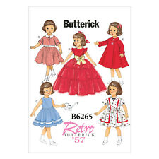 Butterick 6265 Sewing Pattern to MAKE Retro '57 Doll Clothes for 18 inch Dolls
