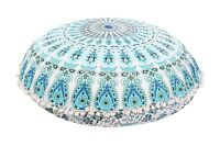 Indian Ottoman Large Floor Pillows Mandala Tapestry Round Cushions With Insert