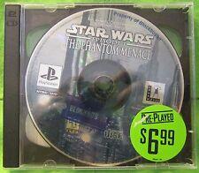 Star Wars: Episode I - The Phantom Menace (Sony PlayStation 1, 1999) Video Game