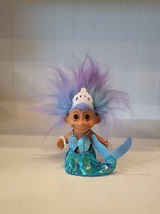 Mermaid Russ Troll Doll Vintage Purple Blue Hair 80s 90s