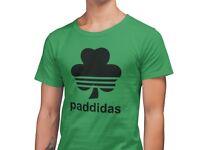 Paddidas Sports Logo St Patrick's Day T-Shirt  - Unisex GREEN Tee Shirt