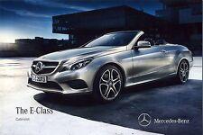 Mercedes E Class Cabriolet 04 / 2013 catalogue brochure English Int.