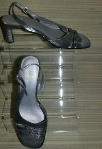 K BY CLARKS WOMENS GREY BUCKLE SYNTHETIC SLINGBACK SANDALS SIZE:4/37(WHS426)