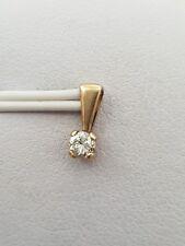 100% GENUINE 9K YELLOW GOLD SOLITAIRE DIAMOND PENDANT