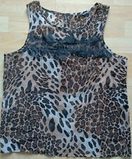 Women's Sleeveless Brown Leopard Print Top 12 Only £3.99