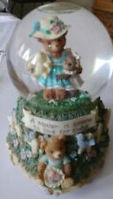 Matthew Danko Teddy Hugs Musical Waterglobe Vintage San Francisco Music Box Co.